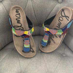 Sam Edelman beaded thong sandals